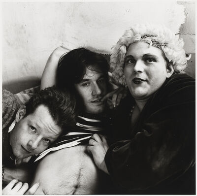 Peter Hujar, 'Jackie Curtis, Lance Loud and Paul Ambrose', 1975