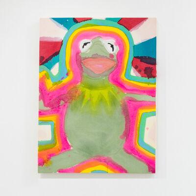 Liz Markus, 'Kermit with Auras and Red, White, and Blue Starburst', 2021