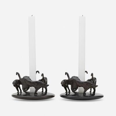 Hubert Le Gall, 'Ronde de Nuit candlesticks, pair', 2008