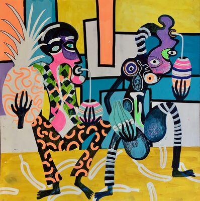 Frantisek Florian, 'African figures 16', 2018