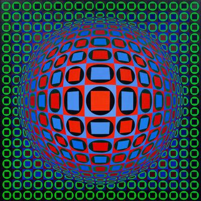 Victor Vasarely, 'KEZDI-DOMB', 1968-1975
