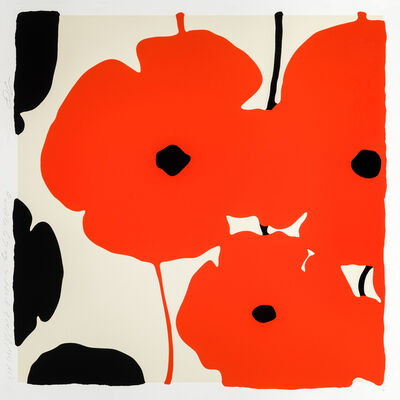 Donald Sultan, 'Red and Black Poppies, Feb 3, 2020', 2020