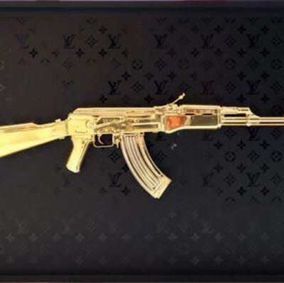 GHOST ART, 'AK47 GOLD CHROME / Monogram LV BLACK MATT', 2020