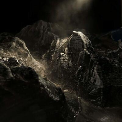 Edward Bateman, 'Half Dome No. 1 (with 3D printed landscape)', 2020