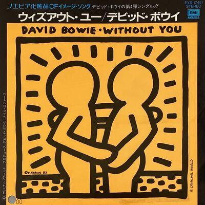 Keith Haring, 'Keith Haring David Bowie Vinyl Record Art ', 1983