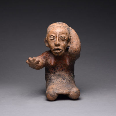 Unknown Pre-Columbian, 'Ameca-Ezatlán Style Jalisco Terracotta Sculpture of a Seated Woman', 300 BCE-300