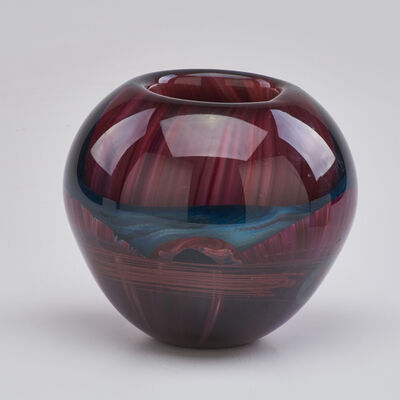 Michael Pavlic, 'Art glass vase with multi-layered interior  decoration', 1981