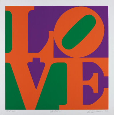 Robert Indiana, 'Zinnia, from Garden of Love', 1982