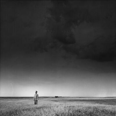 Tseng Kwong Chi, 'Lightning Field, North Dakota', 1986