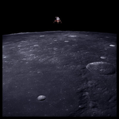 Michael Light, '043 Lunar Module Intrepid Prepares for Descent, 69 Miles Altitude; Photographed by Richard Gordon, Apollo 12, November 14-24, 1969', 1999