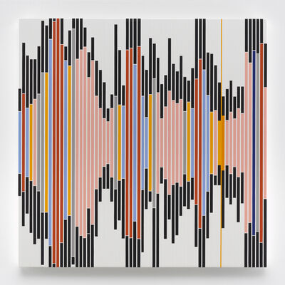 Sarah Morris, 'No One Can Play a Game Alone [Sound Graph 5]', 2017