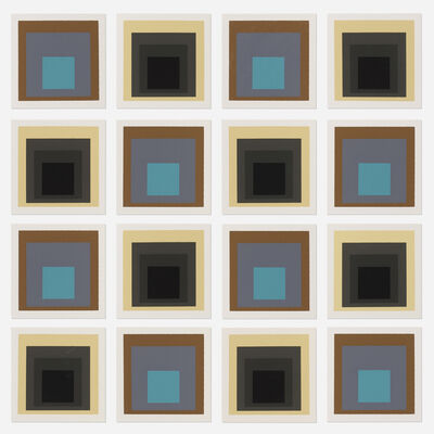After Josef Albers, 'Homage to the Square samples (sixteen works)', 1962