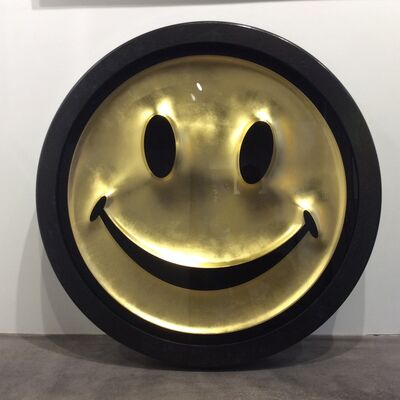 RYCA, 'Metric Power Pill (Gold Smiley Face)', 2019