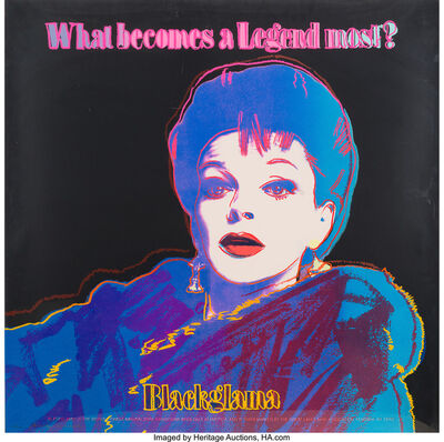 Andy Warhol, 'Blackglama (Judy Garland), from the Ads portfolio', 1985