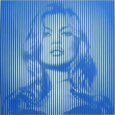 Mr. Brainwash, 'FAME MOSS (BLUE)', 2015