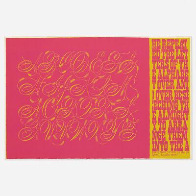 Corita Kent, 'words of prayer', 1968