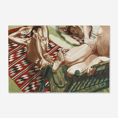 Philip Pearlstein, 'Models with Mirror', 1985