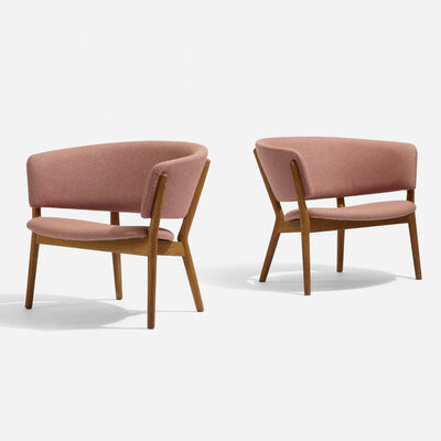 Knud Willadsen Cabinetmakers, 'Lounge chairs, pair', 1952