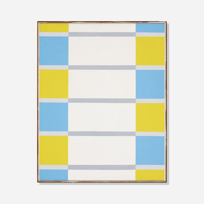 Jules Engel, 'Meadow of Blue + Yellow', 1968