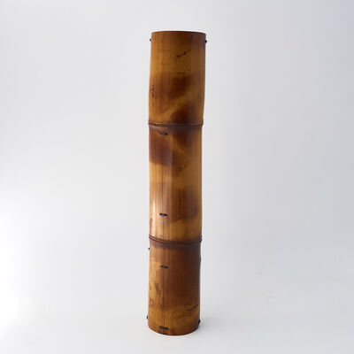 Matsumoto Hafū, 'Soot bamboo hanging vase ', 2016