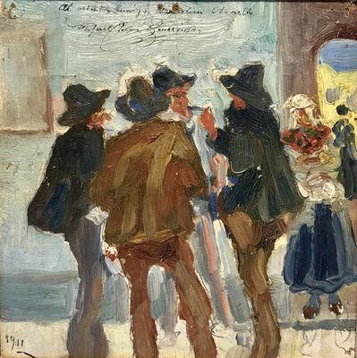 "Rafael Barradas, '""Personajes conversando""', 1911"