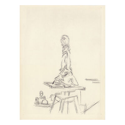 Alberto Giacometti, 'Atelier à la sellette', 1964