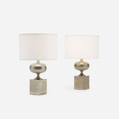 Philippe Barbier, 'Table Lamps, Pair', c. 1975