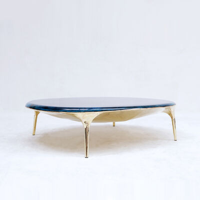 Valentin Loellmann, 'Blue Brass Coffee Table ', 2019