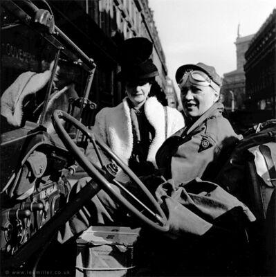 Lee Miller, 'Lee Miller in her jeep, En route to Cologne, Paris, France, by David Scherman ', 1945