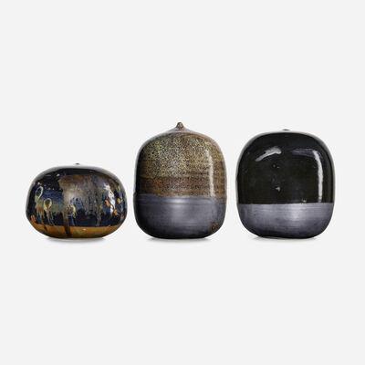 Toshiko Takaezu, 'Closed Form vessels, set of three (with rattles)', c. 1995