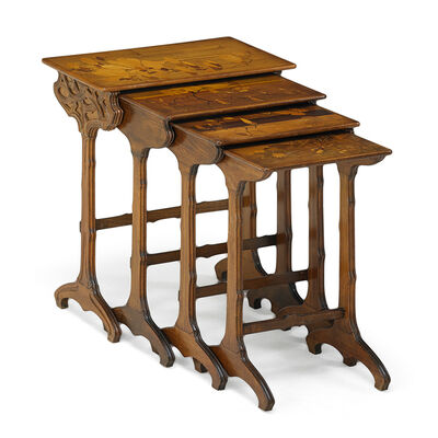 Galle, 'Four Marquetry Nesting Tables, France', ca. 1900