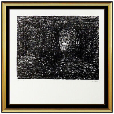 Henry Moore, 'Henry Moore Thin Lips Armourer Original Lithograph Hand Signed Sculpture Artwork', 1973