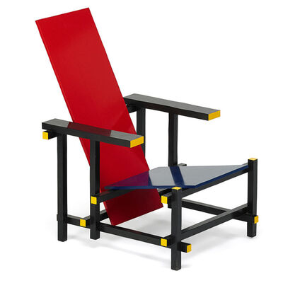 Gerrit Thomas Rietveld, 'Red Blue chair, Italy', 1980s