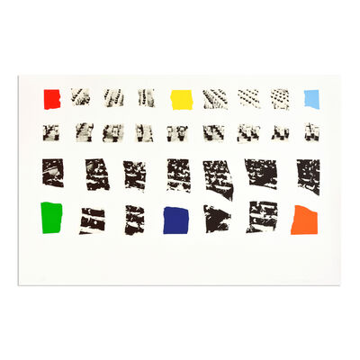 John Baldessari, 'Two Assemblages (with R, O, Y, G, B, V Opaque)', 2003