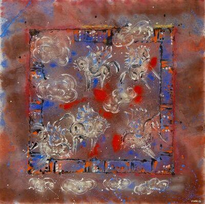 Carlos Vivar, 'Caballos en las nubes', 2016