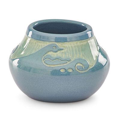 Julia Mattson, 'Cabinet vase with stylized waves'