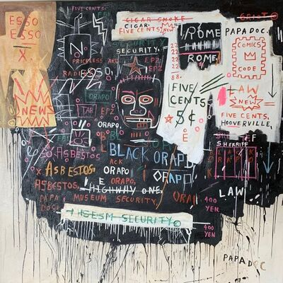 Jean-Michel Basquiat, 'Museum Security (Broadway Meltdown)', 1983