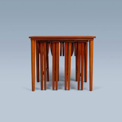 Poul Hundevad, 'Nesting table with beech frame', 1960-1970