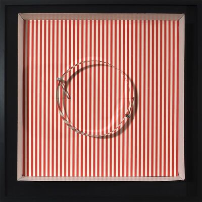 Julio Le Parc, 'Circle en contorsion sur trame rouge', 1969
