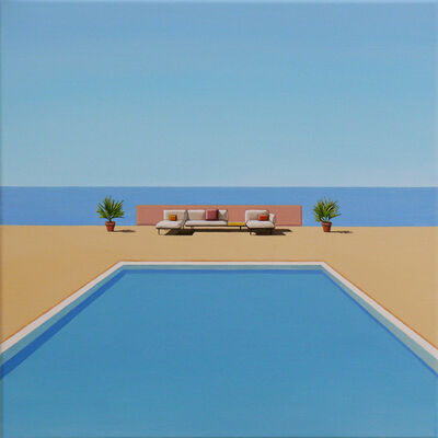 Magdalena Laskowska, 'Ocean Breeze - landscape painting', 2020