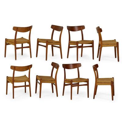Hans Jørgensen Wegner, 'Set of eight dining chairs, Denmark', 1960s