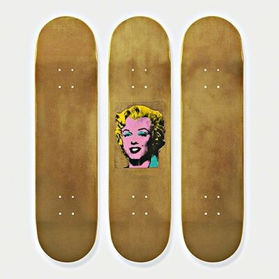 Andy Warhol, 'Gold Marilyn Monroe Skateboard Triptych (Limited Edition Set of Skateboards with signed COA)', 2015