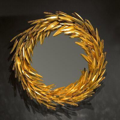"""Robert Goossens, '""""Crown of Wheat"""" mirror', 1973"""