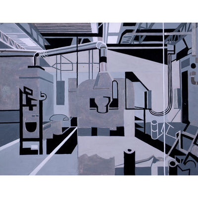 Michael Merrill, 'Grey Factory', 2020