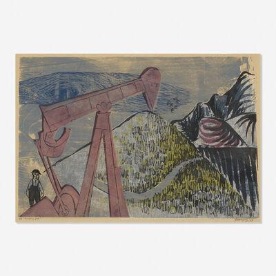 Antonio Frasconi, 'Pumping Jack', 1953