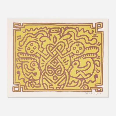 Keith Haring, 'Chocolate Buddha 4', 1989