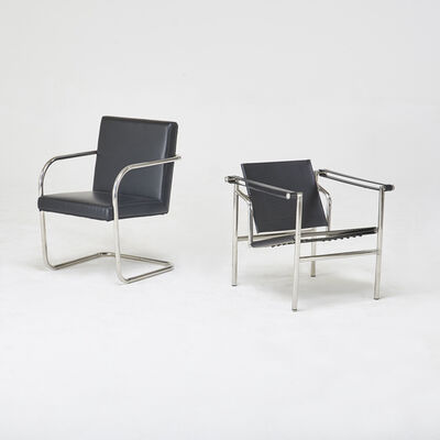 Style of Le Corbusier & Marcel Breuer, 'Basculante and BRNO-style armchairs'