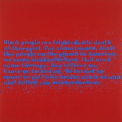 Glenn Ligon, 'Therapy #3', 2015