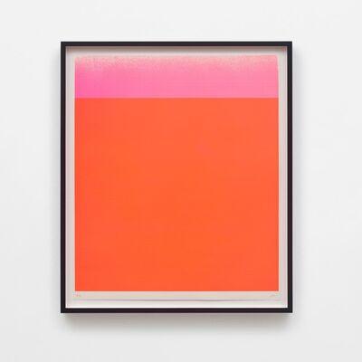 Rupprecht Geiger, 'Leuchtrotwarm – Dunkel bis Hell (Verlauf)', 1967