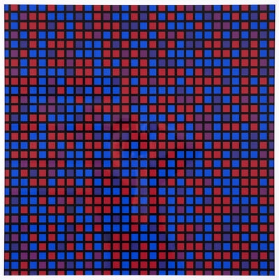 François Morellet, 'Chartres, bleu-violet', 1973